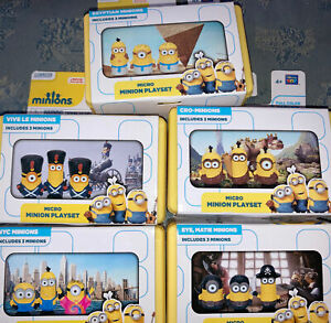 Micro Minions Playset Movie Scene Toy Figures Lot of 5 sets
