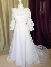 """Robe de mariée vintage dentelle """"Mariées de rêve"""" Taille FR36 U4 UK8 EUR34"""