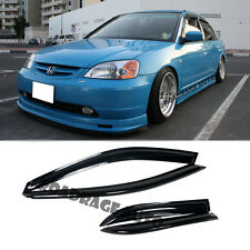 For 01-05 Honda Civic 4Dr Rain Guard Shield Vent Side Window Door Frame Visors