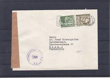 Schön frankierter Bedarfsbrief aus der Schweiz zensuriert gelaufen nach Wien