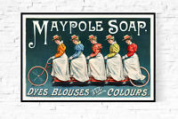 Maypole Soap Antique Advertising Poster Rolled Canvas Giclee Print 36x24 in.