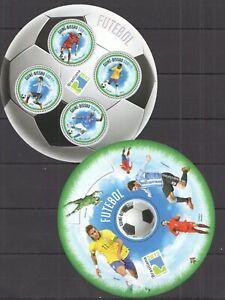 2013 GUINEA-BISSAU SPORT FOOTBALL FUTEBAL MESSI RONALDO KB+BL MNH - Two Sheets