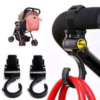 2pcs Baby Hanger Bag Stroller Hooks Pram Rotate 360 Degree Cart Hook Accessories