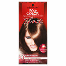 SCHWARZKOPF POLY COLOR TINT WARM BROWN 38 CREAM COLOUR