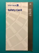 UNITED AIRLINES SAFETY CARD--787