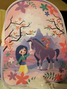 Loungefly Disney Mulan Friends Mini Backpack Canvas-Faced Mini Backpack