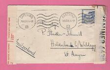 Enveloppe CAD CAPETOWN (Afrique du Sud) 6-8-41 pour SUISSE - Censored  WW II