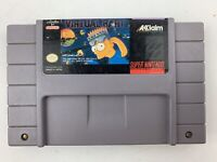 Virtual Bart Snes Super Nintendo Game Tested Works