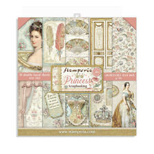 """NEW Stamperia 8"""" x 8"""" Paper Sheets Princess"""