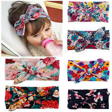 6Pcs Baby Kid Girl Bohemia Headscarf Headband Headwear Hair Band Bow Accessories