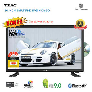"""TEAC 24"""" FHD Android Smart DVD Combo TV DVB-T2 DVB-S2 Terrestrial and Satellite"""