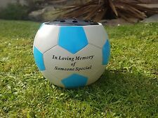 Someone Special Grave Memorial Ornament Remembrance Football Rose Bowl Blue