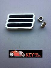"Polished billet aluminum large brake pedal pad 2 1/2""x 4 3/8"" street hot rod"