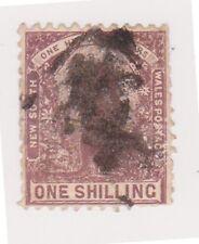(K107-48) 1888 NSW 1/- brown kangaroo heavy cancel (BF)