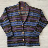 ALPS Wool button up Jacket Southwestern Aztec Womens Size Medium Vintage