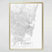 """Map Of Sydney And Region Poster /""""ROAD GUIDE/"""" WALL CHART size 70 cm X 100 cm"""