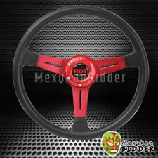 350mm Black/Red Sport Style 6 Bolt Pattern Steering Wheel For Mitsubshi