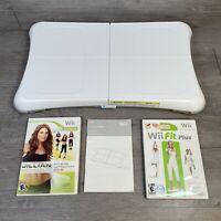Wii Fit Plus Balance Board & 2 Games Nintendo Exercise Fitness Jillian Michaels