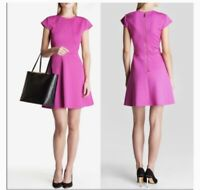 Ted Baker Fuchsia Eebrr Cap Sleeve Skater Dress 4 / 12