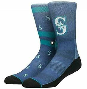 Stance SOCKS MLB MARINERS SPLATTER BLUE MEDIUM 6-8.5 NWT $18.00