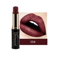 12 colores Impermeable lápiz labial mate brillo de labios maquillaje cosméticos