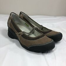ff738a825a96 AHNU Olivia Wedge Heel Vibram Mary Janes Brown Leather Shoes Womens Size 10