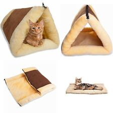 Pet Bed for Dog Cat Crate Mat Soft Warm Pad Liner Tube Cushion Home Indoor