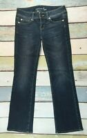 American Eagle Outfitters Womens Slim Boot Jeans Sz 2 (29X32) DARK WASH STRETCH