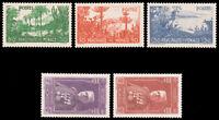 Monaco B19-23 YT135-9 SG144-8 Mi138-42 1937 Louis II/Exotic Gardens MNH CVÛ310