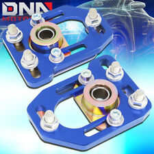FOR 1979-1989 FORD MUSTANG FRONT ALUMINUM ADJUSTABLE CAMBER/CASTER PLATES BLUE