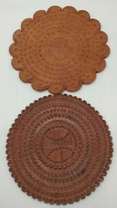 Vintage Costa Rica Leather Pot Holder very nice condition set of 2