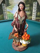 """Ceramiche TERRACOTTA FIGURINE TOWN GIRL SCULPTURE BY ANGELA TRIPI 11"""""""
