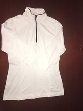 Tommy Bahama 18 Golf Women's Athletic Pullover Size S color White and Navy Blue