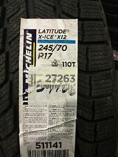 1 New 245 70 17 Michelin Latitude X-Ice Xi2 Snow Tire