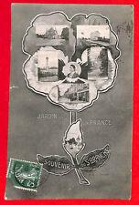 37 SAINT-BRANCHS CARTE POSTALE SOUVENIR JARDIN DE LA FRANCE 1910