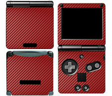 Red Carbon Fiber Vinyl Decal Skin Cover Sticker for Game Boy Advance GBA SP