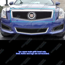 Fits 2013-2014 Cadillac ATS Logo Show Stainless Black Mesh Grille