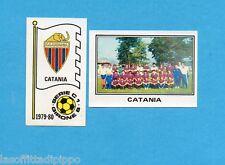 PANINI CALCIATORI 1979/80-Figurina n.522- CATANIA -SCUDETTO+SQUADRA-Rec