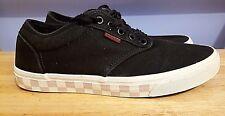 Vans Skater Shoes Black & White Padded Checkered Soles Sneakers Mens US 9 EU 42