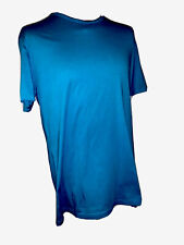 DEREK ROSE Riley Crew T-Shirt Blue X-Large Teal Colour RRP £55