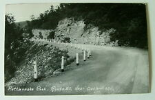 1951 RPPC POSTCARD OLD CAR AT  RATTLESNAKE ROCK ROUTE 50 NEAR OAKLAND MARYLAND