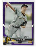 2018 Bowman baseball paper purple parallel /250 #BP38 Mitch Keller Pittsburgh