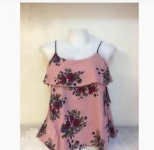 WOMEN'S FLORAL SLEEVELESS BLOUSE NC -  OLD ROSE