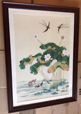 Watercolor - gorgeous and large, signed by Korean artist