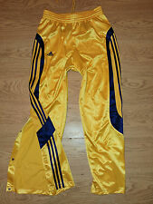 ADIDAS VINTAGE TRACKSUIT BOTTOMS SIZE L POPPERS BUTTONS TROUSERS YELLOW (g72d)