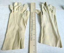 Vintage Saks Fifth Avenue New York Daurein Womens leather Gloves Size 7 unlined