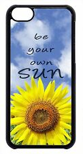 Cute Sunflower Flowers Life Quote Slim Hard Back Case Cover For Apple iPod 4 5 6