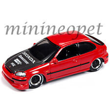 JOHHNY LIGHTNING JLCP7173 STREET FREAKS 1998 HONDA CIVIC CUSTOM 1/64 RED BK HOOD