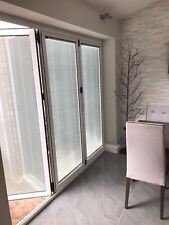 New, Quality Aluminium Bi fold Doors inc Integrated blinds 3 panels. Look At FB