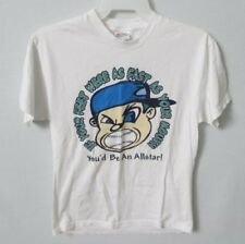Shut Up and Play Ball baseball white short sleeve graphic t-shirt *Sz M*